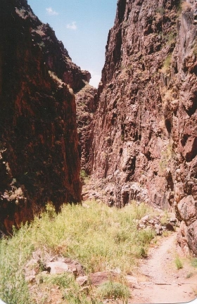 SLOT CANYON NORTH OF PHANTOM RANCH